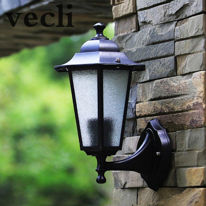 US $12.32 60% di SCONTO|Europa luci di recinzione, giardino Villa lampada  da parete, lampade da esterno impermeabile, illuminazione di paesaggio-in  ...