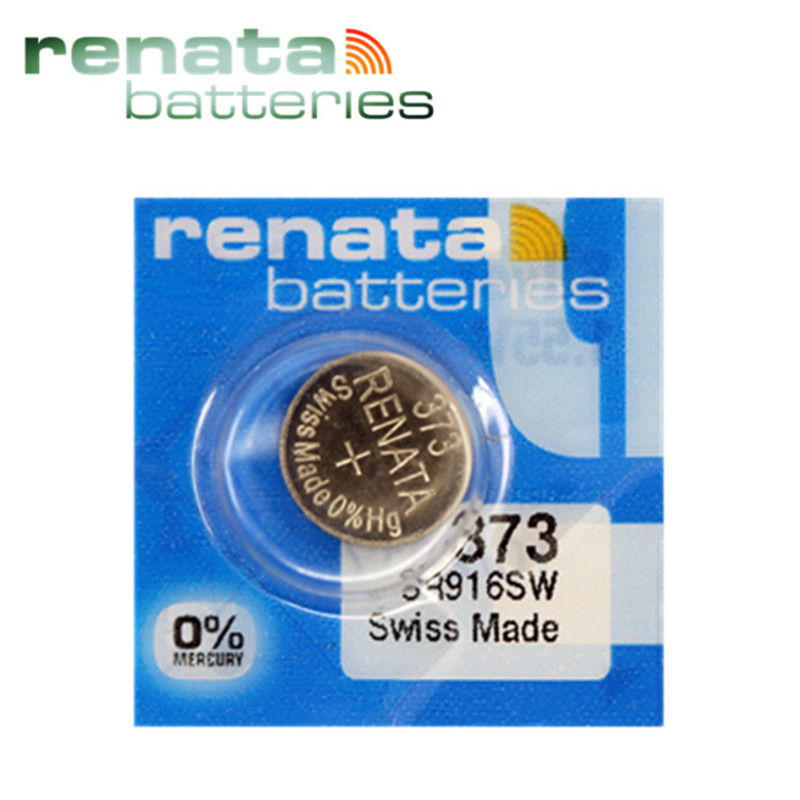 2 Silver Oxide 373 Zero Mercury Electronic Renata Batteries