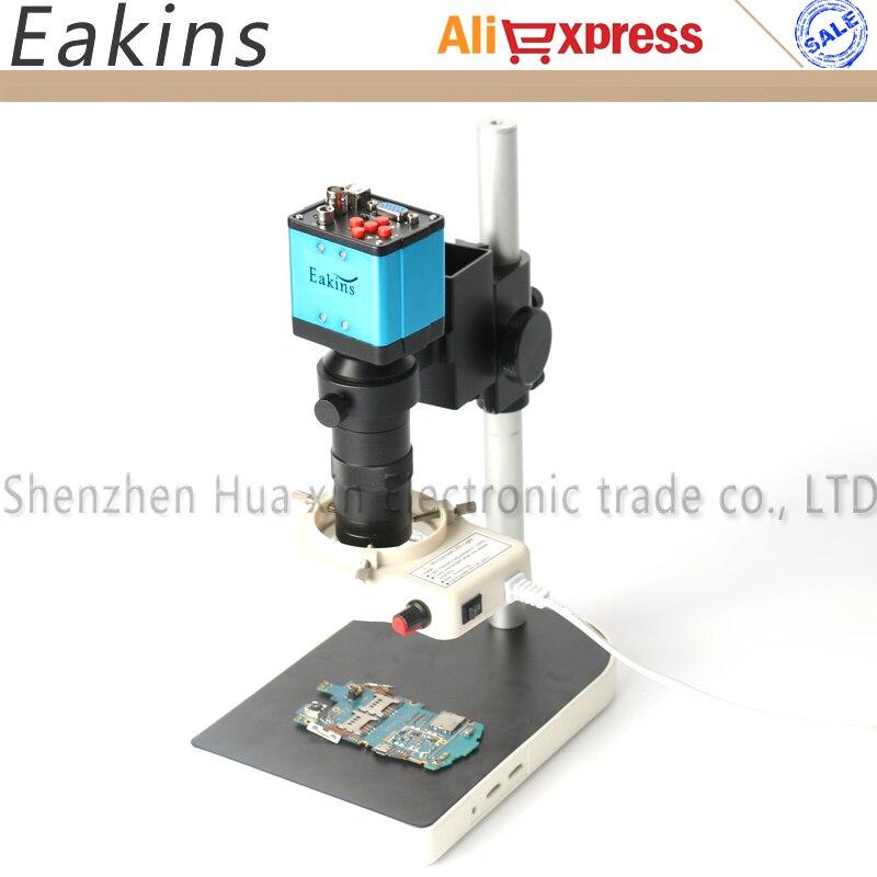 3 в 1 VGA USB BNC 2.0MP 1080 P электронный цифровой микроскоп камера комплект 100X c-крепление объектива светодио дный фонари для ремонта телефона