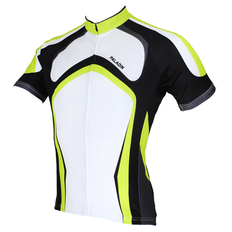 "Analytical Paladin "" Black / Green / White "" Mens Short Sleeve Cycling Jersey Bike Shirt Cycling Clothing . Beneficial To The Sperm"