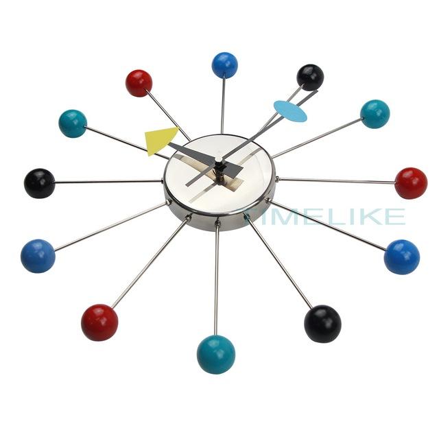 Colorful Designer Wall Clocks Metal Ball Wall Watches Clock Relogio De Parede Wandklok Montre Murale Decorations for Home