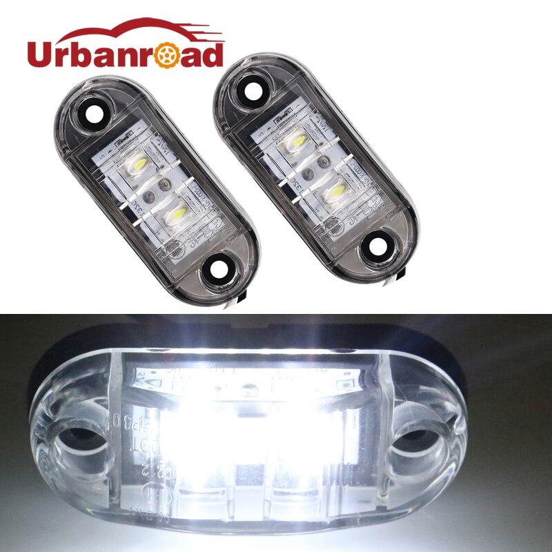 Urbanroad 12v 24v univerzální vůz pro boční světla vedená bočními obrysovými světly Světla pro nákladní automobily Přívěsy Červená LED světlomety