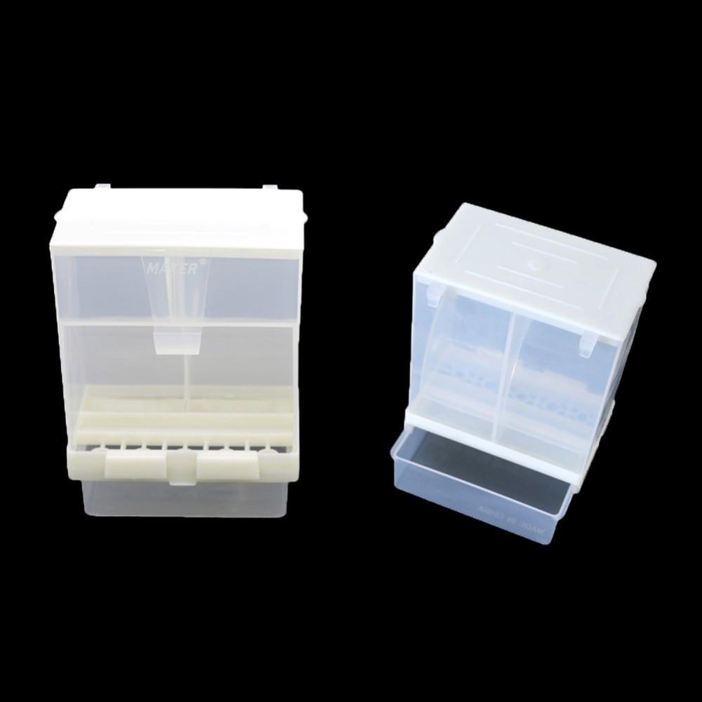 Пластиковая автоматическая кормушка для попугаев кормушка для кормления птиц аксессуары для Клетки птиц профилактические всплеск принадлежности для голубей кормушка 1 шт.