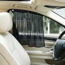 Hot New 2 Pcs Auto Car Foldable Curtain Side Window Car Sun Shade Curtain Windshield Mesh Curtain Blind High Quality qiang
