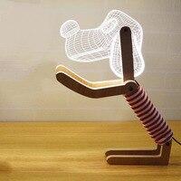 3D New Special Gift Dog Lamp LED Nightlight Valentine Couple Gift Decoration Atmosphere Lighting Bedside Lamp US Plug/ EU Plug