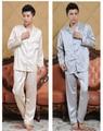 Envío Libre!!! Venta Caliente del Estilo Chino Hombres del Juego Del Ocio Del Desgaste Noche Robe Gown Kimono Albornoz Yukata L XL XXL 3XL