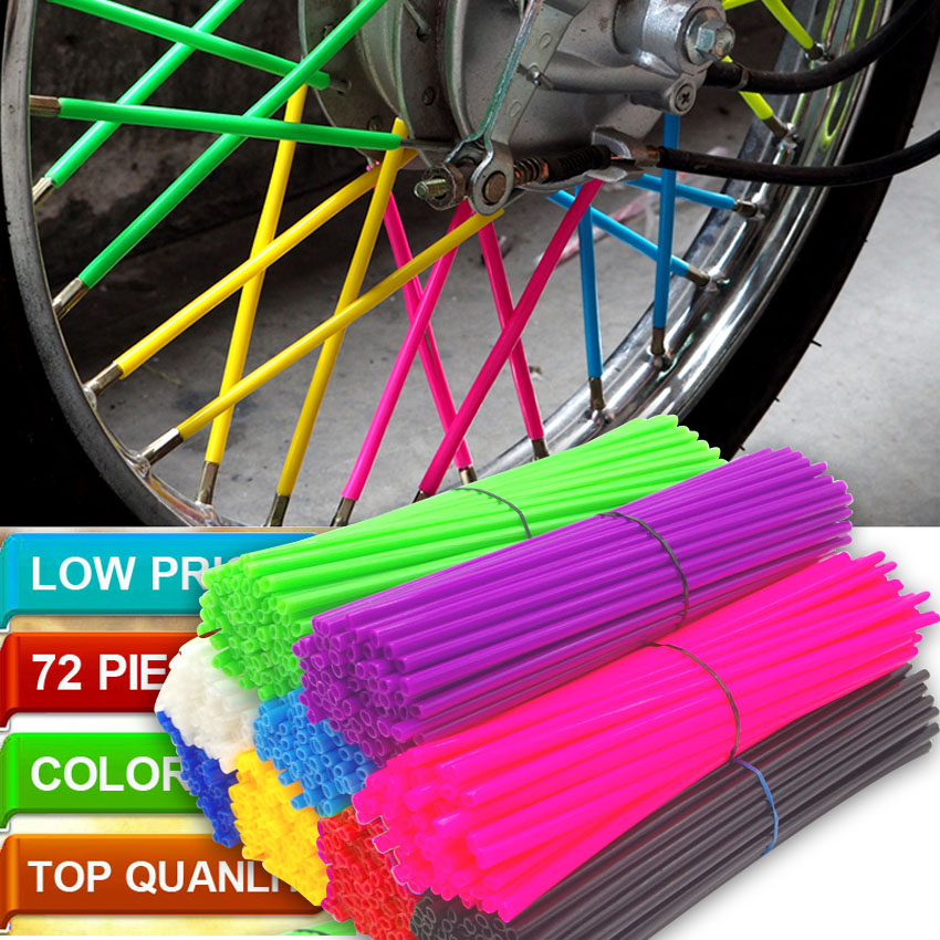 Motorcycle Dirt Bike Wheel Rim Spoke Skins Covers Wrap Tubes Decor Protector Pipe FOR KTM 350 SX-F EXC 450 EXC 500 XC-W pitbike image