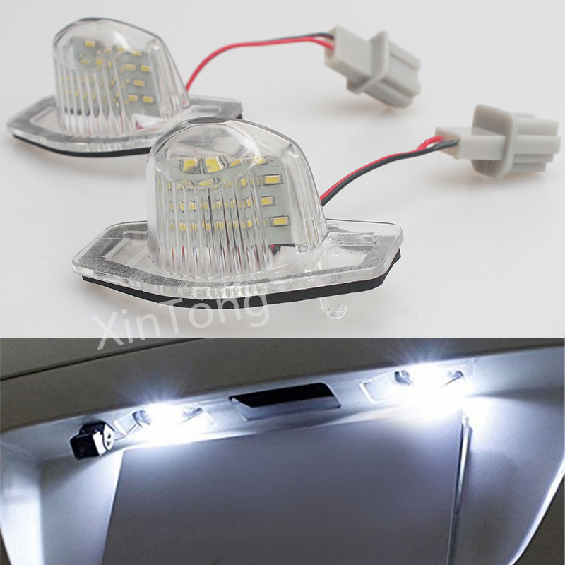 2 PCS LED White Number License Plate Lamps 18 LED For Honda Crv Fit Jazz Hrv Frv cr-v Odyssey Stream Insight FR-V Error Free струнный светильник paulmann light easy flexy 97612