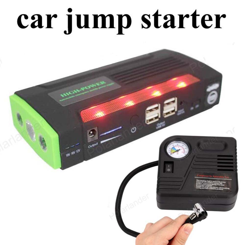 Multi-function Jump StarterEmergency Car Auto Power Bank External Battery Charger For Laptop Mobile Phone