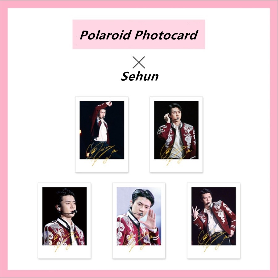 Jewelry & Accessories Earnest Kpop Exo Sehun Personal Signature Paper Photo Cards Collective Card Polaroid Photocards 5pcs