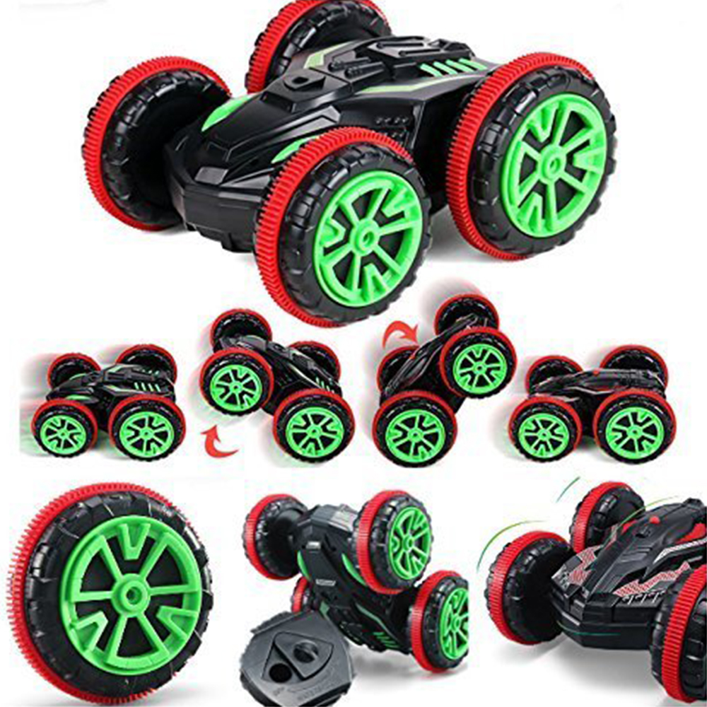 Rc Car 2.4Ghz 1/18 4WD Remote Control Car Amphibious Vehicle Double-Sided Stunt Car Scale 360 Degree Cars RTR Toys Xmas Gifts