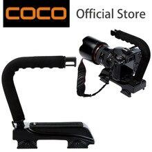 C Shape flash Bracket holder Video Handle Handheld Stabilizer Grip for DSLR SLR Camera Mini DV Camcorder Gopro Smart phone