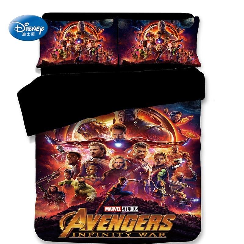The Avengers Duvet Cover Bed Linen 3d Character Pillow Case Single Twin Full Queen King Size