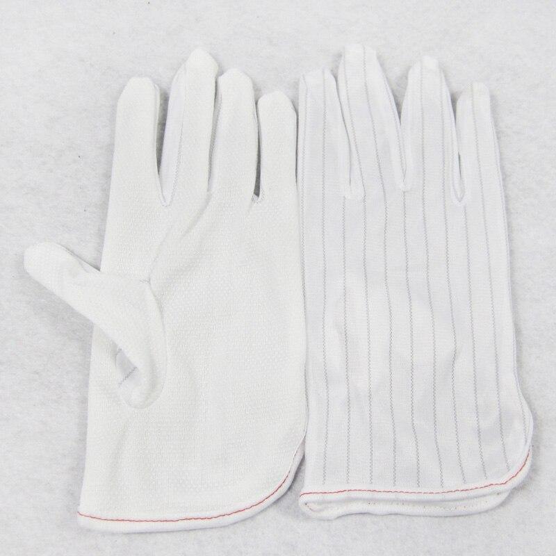 Купить с кэшбэком 1pair Antistatic Gloves BGA Repairing Soldering Working Antiskid Electronic Gloves Anti-static Dust-free White Gloves