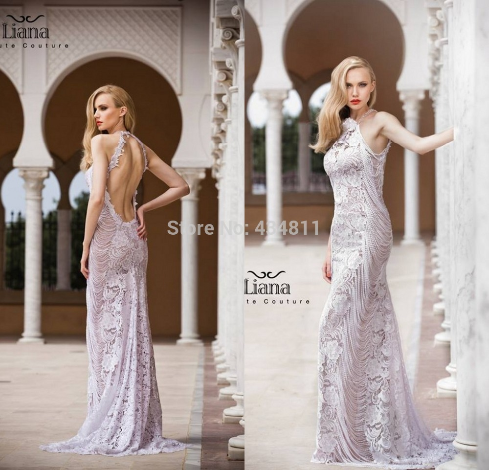 2014 New Fashion Lace Lilac Wedding Dress Mermaid Long Backless Floor Length Sleeveless Gown Factory In Dresses From Weddings Events