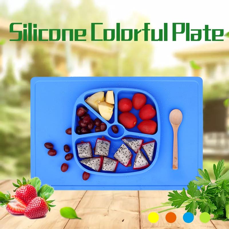 Hot Kitchen Zubehör Kinder Silikon Teller, Tier Partition Teller - Küche, Essen und Bar - Foto 1