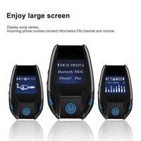 ENKLOV Nueva Bluetooth Transmisor FM Coche Reproductor de MP3 USB de Doble Puerto 5 V/3A Salida Transmisor Pantalla Grande ABS Material