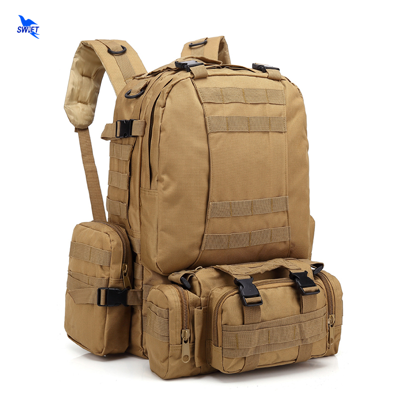55L Oxford Combat Tactical Backpack Outdoor Military Assault Encrypted Rucksack Trekking Hiking Camping Mountain Climbing Bags 55l molle combination backpack hiking camping mountaineer military backpack outdoor bag tactical trekking rucksack backpack camo