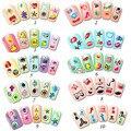 10 Sheet / lot etiqueta engomada del clavo elegante ciruela brillo de moda de dibujos animados de pasta de uñas de manicura pegatinas Nail Stickers Decals A2