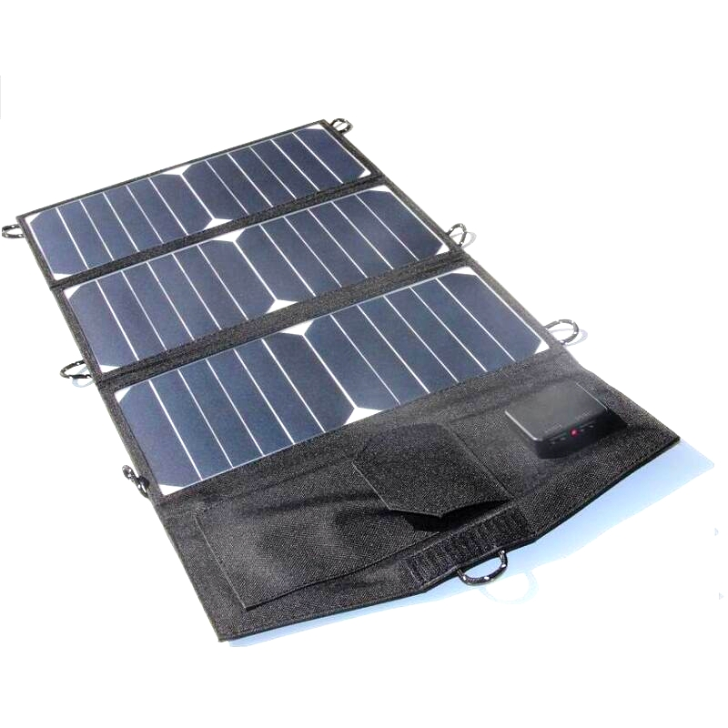 Sunpower 21W Solar Panel Charger For iPhone/Mobile Power Bank  Foldable Universal Outdoor Dual USB High Quality Free Shipping 5500mah solar charger 5v 0 8w beetle shaped phone mobile power bank