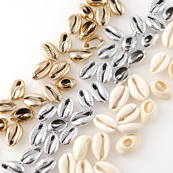 20Pcs/bag New Fashion 10-17cm Mix Gold Silver Plated Shell Natural Sea For DIY Handmade Shells Home Decoration