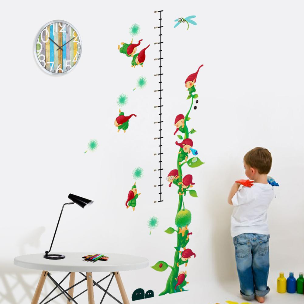 New style nomes little world growth chart 2 monster wall paper new style nomes little world growth chart 2 monster wall paper decals removable adesivo de parede wall sticker home decoration in wall stickers from home geenschuldenfo Image collections