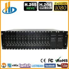 3U Rack HEVC 16 Channels HDMI To IP Video IPTV Encoder H.265 H.264 Live Streaming Broadcast RTMP RTMPS Encoder apt56f50l to 264