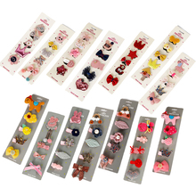 Mix Color 5Pcs/Set Pink Lovely Cute Fashion Hairpin Baby Girl Cartoon Animal Motifs Clip Set Beautiful Hair Accessories For Kids