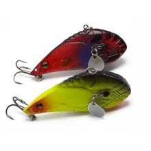 2pcs topwater multi-color Spoon spinner hard fishing Hard lures with two-side blades
