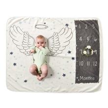 Детские Одеяло s пеленать Обёрточная бумага бархат новорожденных Подставки для фотографий полиэстер фланель детские вехой Одеяло 76*102 см