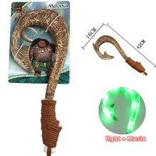 42 см Моана Waialiki Мауи Heihei светодио дный оружие Свет Звук сабля рыболовный крючок фигурки героев Моана Приключения световой меч игрушки подарки