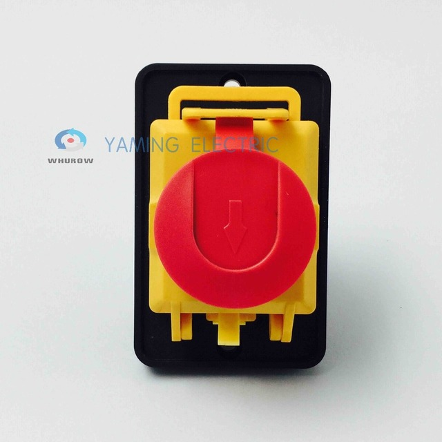 Free shipping Electromagnetic switch starter 7 Pin On Off 16A 230V with protection cover waterproof YCZ4-A