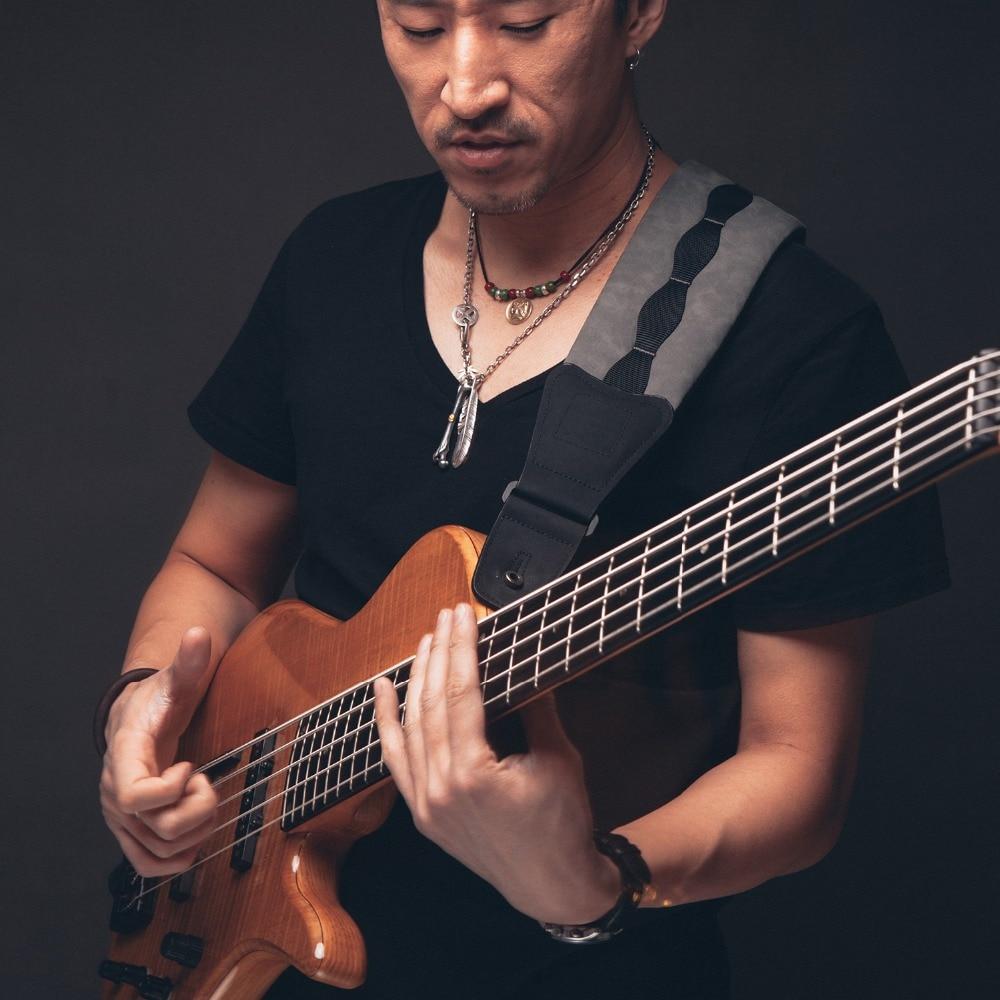 Guitare Sangle En Daim Sentir Yangbuck Résine PU En Cuir 3