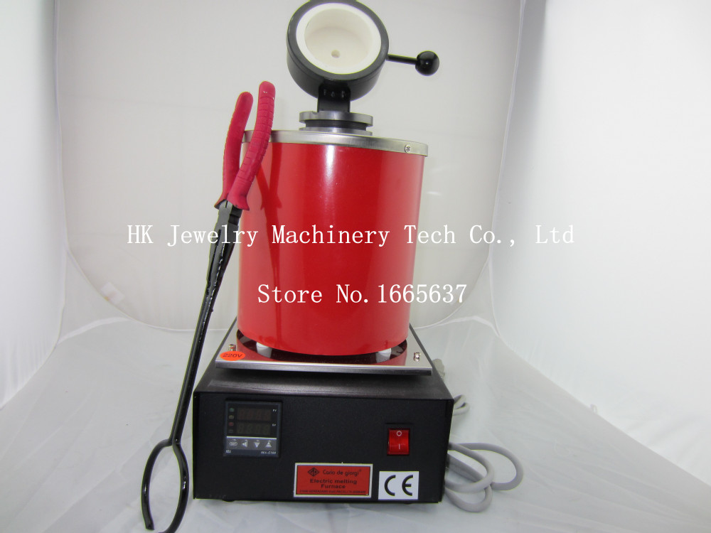 New Type Jewelry Making Equipment 220V 2kg Gold Silver Brass Melting Furnace to Melt Gol ...