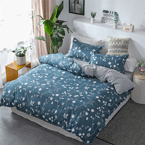 Image 3 - Four Piece Bedding Set Quilt Cover! Pillowcase Flower Full Size queen bed sheet with pillowcase fitted bed sheets king size