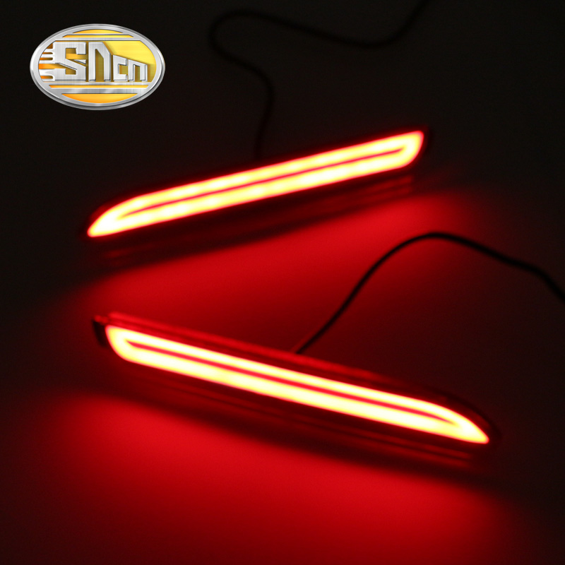 SNCN Multi-functions Car LED Rear Fog Lamp Brake Light Bumper Light Auto Bulb Decoration Lamp For Toyota Verso 2011 - 2015
