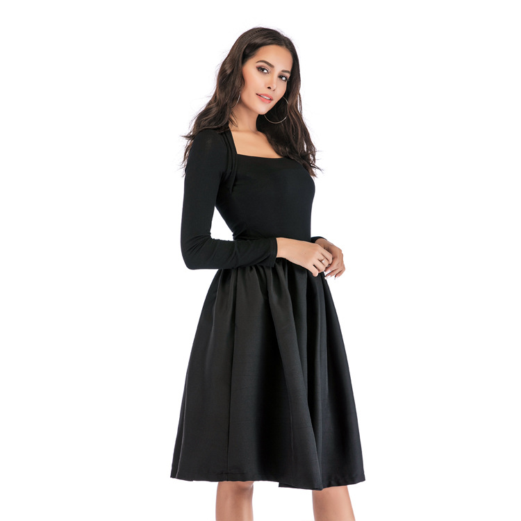 Bachash 19 New Skirt Pockets Fashion Spring Autumn Ball Gown Skirt High Waist Female Casual Solid Loose Knee-Length Skirts 7