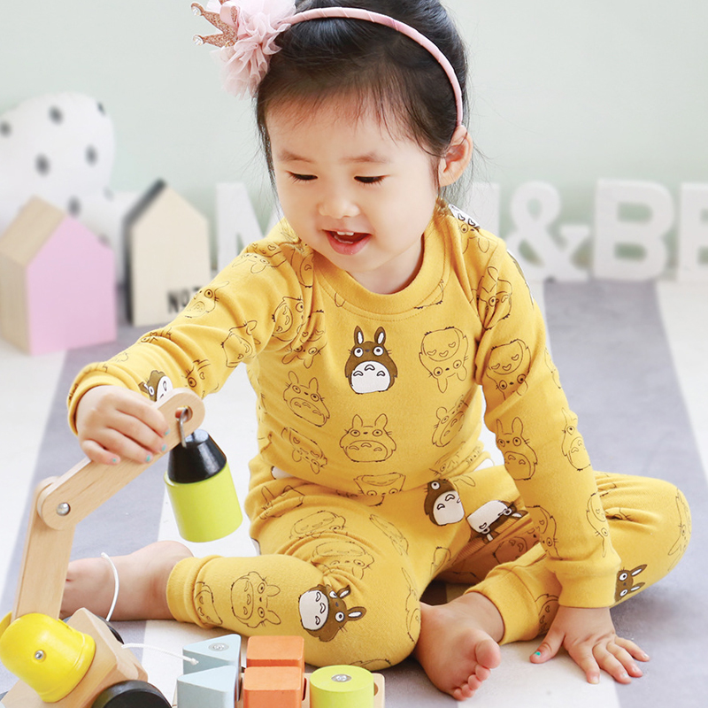 2pcs/set Cotton Spring Autumn Totoro Baby Boy Girl Clothing Sets Clothes Set For Babies Clothes Suit Infant Set (Shirt+Pants) 2pcs set cotton spring autumn baby boy girl clothing sets newborn clothes set for babies boy clothes suit shirt pants infant set