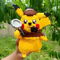 2750pcs cartoon Bricks diamond model building blocks detective pikachu Kids toys legoiNGs educationsl figures For children Gifts