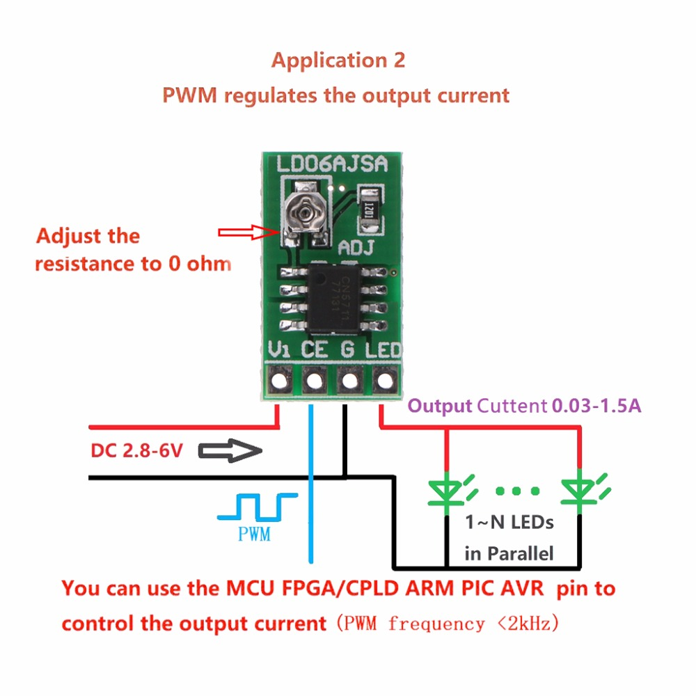 6v Led Driver Circuit Diagram Schematic Diagrams Using Ltm8042 Module Boost Dc 2 8 30 1500ma 1 5a Pwm Control Board Projects