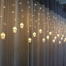 3.5 meters 96 lights LED Halloween skull ice light (warm)