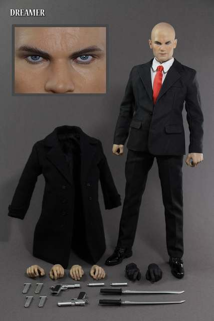 Us 175 35 1 6 Scale Figure Doll Hitman Agent 47 In Windbreaker Collectible 12