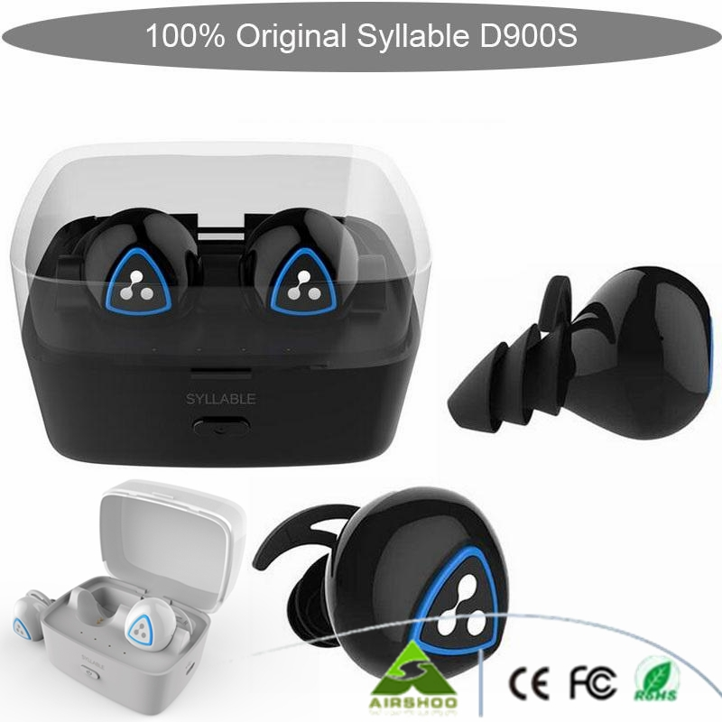 100% original Syllable D900S Bluetooth Stereo Earphone Wireless Music Headset Handsfree Mini Earbud fone de ouvido black &white