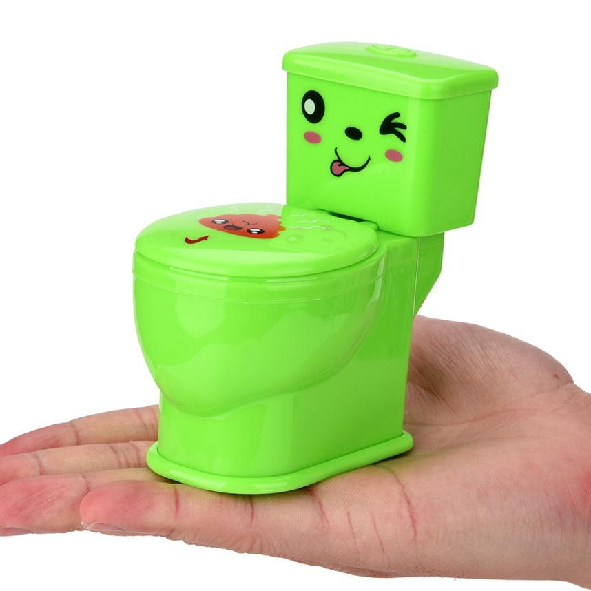Funny Prank Squirt Spray Water Toilet Closestool Joke Gag Toy Desktop Gift Toy For Children/Adult Decompression Toys Cherryb