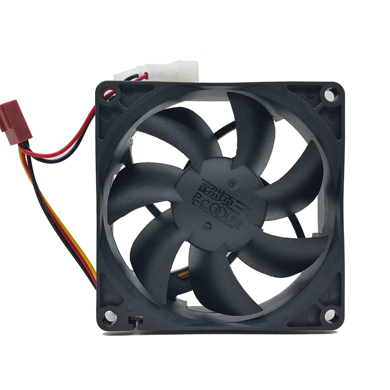 <font><b>PC</b></font> Cooler Computer Case super silent 8025s 8CM <font><b>80mm</b></font> 80x25mm DC <font><b>12V</b></font> black 4Pin &3pin Cooling Motor <font><b>Fan</b></font> image