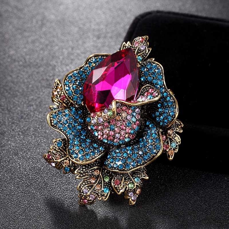 ddcdcef296b0 Perlas de moda tela broche de lazo borla largo de cristal grande Broches  para las mujeres