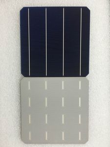Image 1 - 10Pcs 5W 0.5V 20.4% Effciency Grade A 156 * 156MM Photovoltaic Mono Monocrystalline Silicon Solar Cell 6x6 For Solar Panel