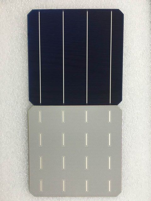 10Pcs 5W 0.5V 20.4% Effciency Grade A 156 * 156MM Photovoltaic Mono Monocrystalline Silicon Solar Cell 6x6 For Solar Panel
