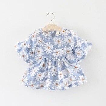 eb81300ec90c6 0-24M Baby Girl Dress Summer Cute Bow Print Floral Sleeveless
