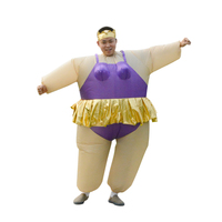 Fun Halloween Party Costume Cosplay Adult Man Women Dress Inflatable Inflatable Ballet Dancer In A Ballet